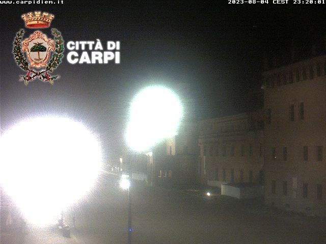 Osservatorio Carpi centro<br>Webcam puntamento nord<br> Carpi (MO)
