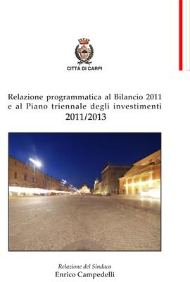copertina Realzione Bilancio di previsione 2011